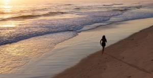 Running on the beach Gold Coast